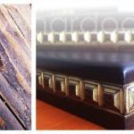 деревянные деревянные ступени и перила сосна