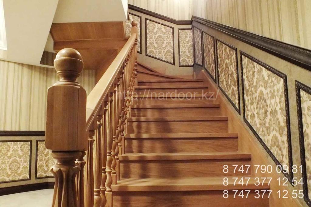 изготовление деревянных лестниц из дуба