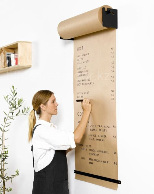 Настенный рулон для записей бумажный
