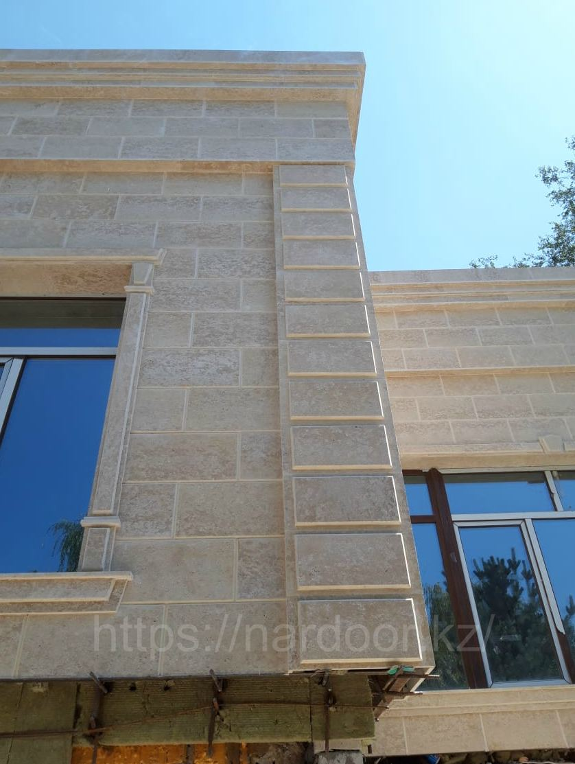 монтаж гранита на фасад